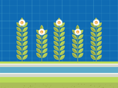 Flowers vector nature