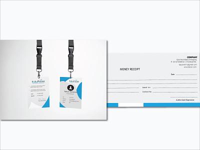 Stationery Design | ID card and Money Receipt shadow blur lettermark mark sketch holographic u letter logo banner icon stationery identity branding identity design moneyreceipt idcard