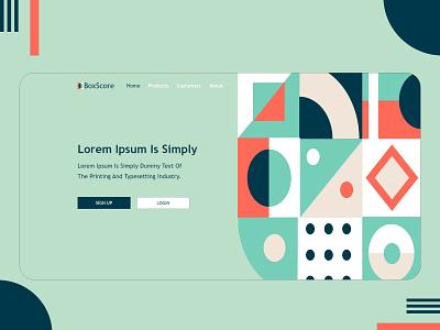 Bauhaus | Web UI header landingpage webui uiux ui trend 2021trend abstract art geometric art bauhaus100 bauhaus