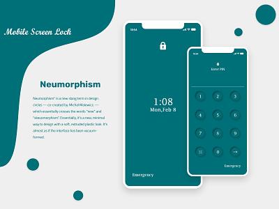 Neumorphism | Mobile Lock Screen UI brand identity lettermark branding mark mobile ui newdesign appdesign uiux uikit icon number lock mobile screens trend2021 trend neumorphism ui neumorphism
