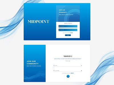 IT Company Web LOGIN UI | MIDPOINT screen mark icon illustration logo design lettermark brand identity uiux signin login webui branding