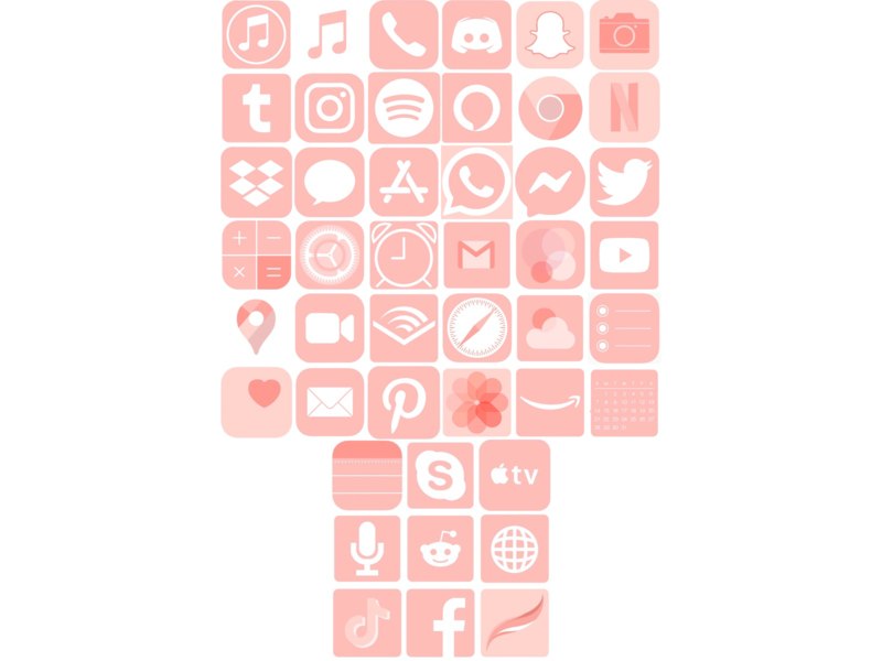 Custom App Icons twitter facebook tiktok instagram google apple procreate custom icons icon logos app pink logo digitalart design art digital
