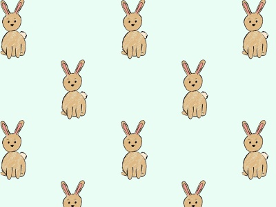 Be hoppy illustration surfaceart surfaceart seamless background digitalart drawing design art digital cute bunnies bunny rabbits rabbit