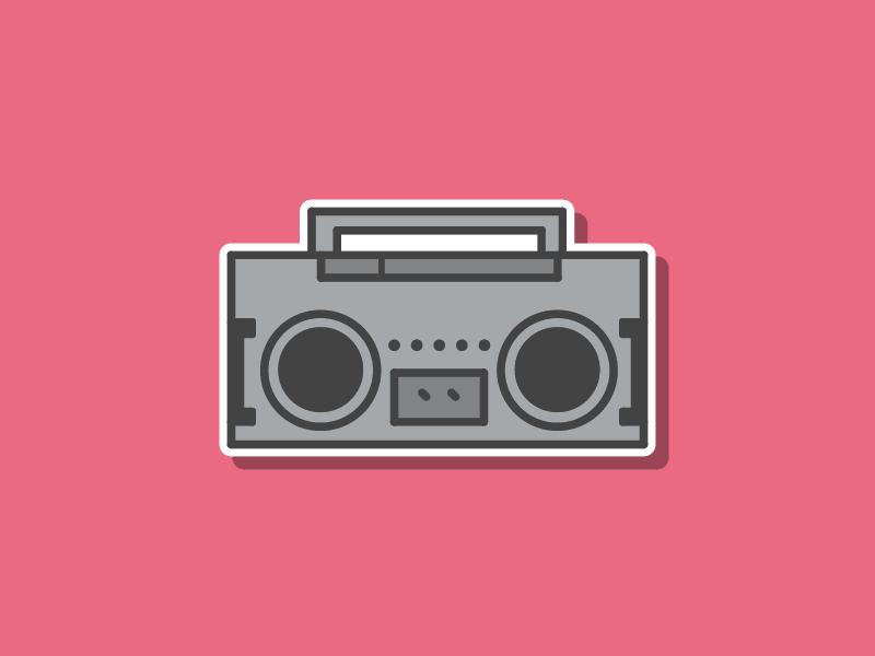 Neighborhorde Weapons - Boombox boombox icons dev indie video games