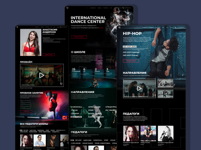 Dance Center Site learn work black site ui uxui ux dance