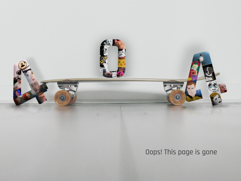 404 Page on Skateboarding shop online shop shop site 404 skateboard
