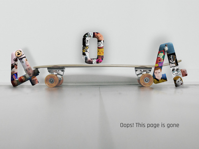 404 Page on Skateboarding shop online shop shop site 404 skateboard