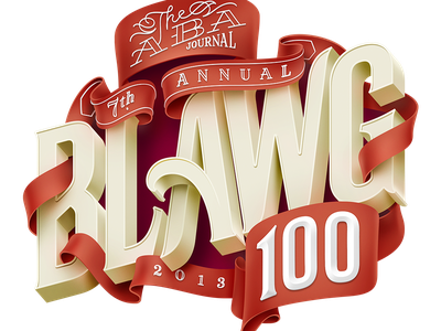 The ABA Journal Blawg 2013 cover artwork lettering typography editorial process magazine cover