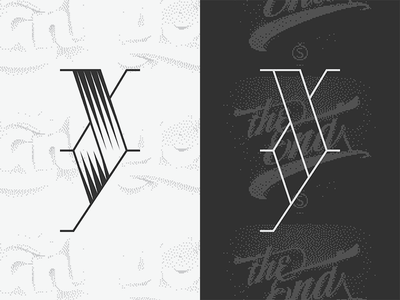 XY and no Z (serif) poster lettering type typography
