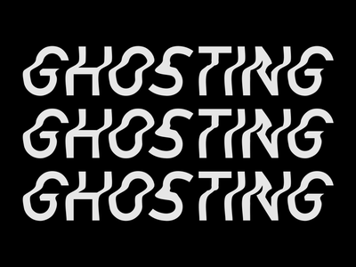 Ghosting waves text bw typography ghosting