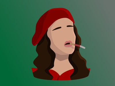 isabel from dreamers vector illustration flat