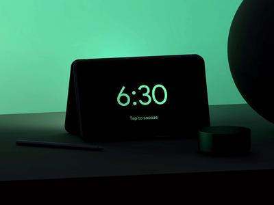 Alarm App — Dual screen phone.