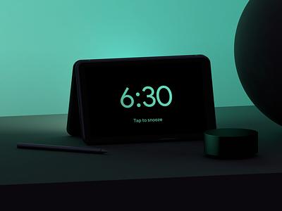 Alarm App — Dual screen phone. neo surface microsoft alarm clock alarm appdesign interfacedesign colors sunrise sun interface productdesign industrialdesign conceptdesign cinema4d
