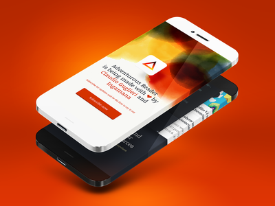 Adventurous Reader - Mobile Site WIP mobile layout tilt iphone reader rss promotional colors paper iphone6 icon 6
