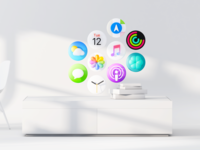 Starboard — Apple Glass Dashboard Concept starboard ios14 workstation ios icon mixed reality 3d dashboard augmented reality glasses apple cinema4d