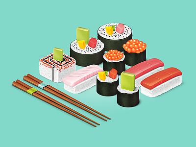 Sushi Pattern work in progress sushi pattern patternlibrary rice chopsticks