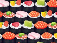 Sushi dribbble pattern