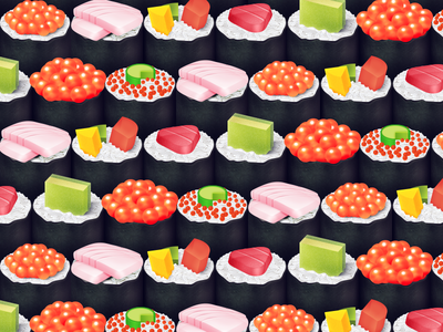 Delicious Sushi Pattern