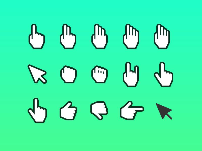 Hand Cursor Icon - Sketch and Photoshop cursor hand freebie point drag grab mockup ux wireframe sketch psd