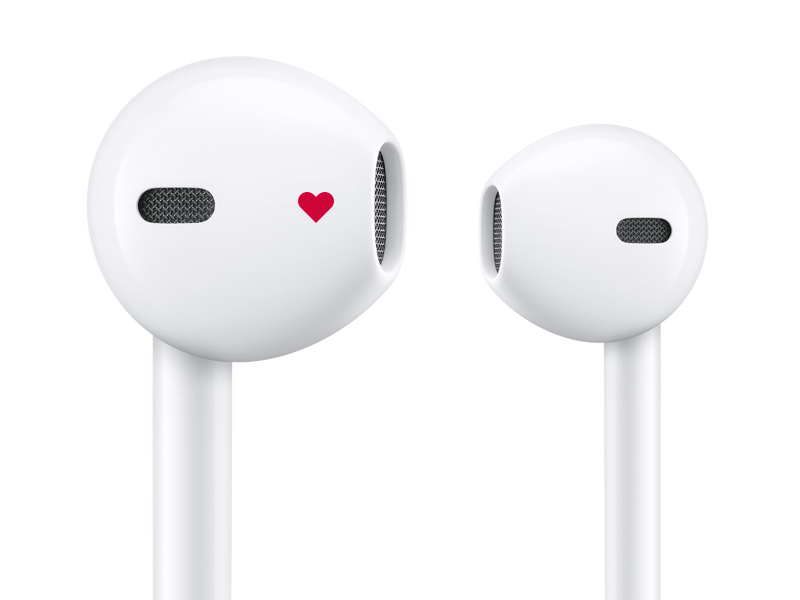 Apple EarPods side right left headphones earbuds earpods apple idea