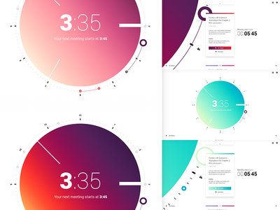 Something from the Archive app tab chrome agenda schedule gradients color calendar