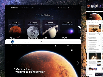 Nasa: Article page  typography article exploration mars content editorial space nasa