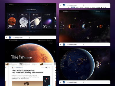 Nasa.gov. Article Page page article content exploration editorial website layout nasa mars space typography