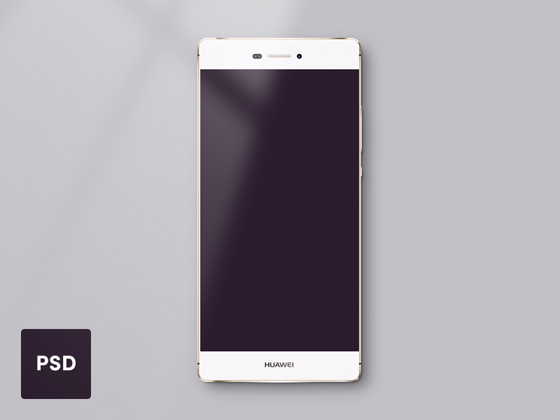 Huawei P8 Lite Template - PSD freebie mockup resources resource placeholder template android phone huawei freebie psd