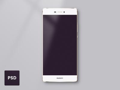 Huawei P8 Lite Template - PSD freebie