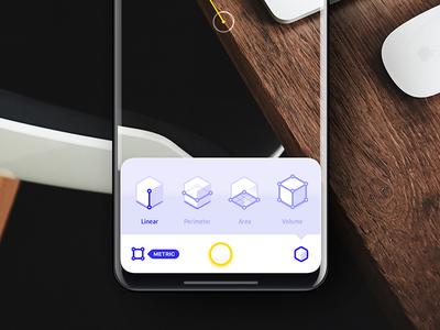 AR based iOS App imperial inches metric app mobile iphone8 iphone tape measure ruler arkit