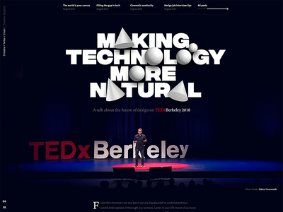 Making Technology More Natural at TEDxBerkeley conference. presentation technology microsoft fluent article cover talk tedx