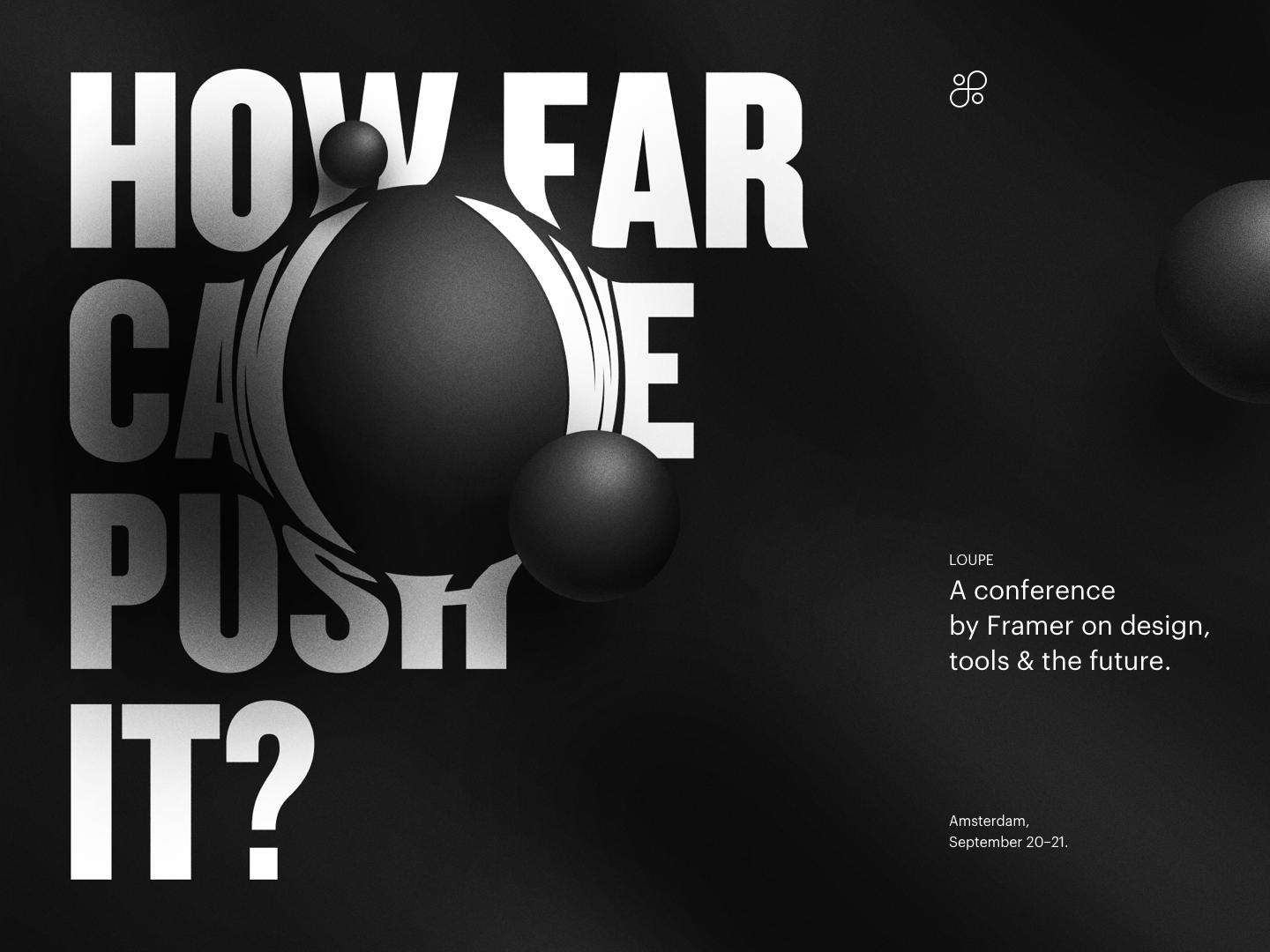 How far can be push it - Loupe Conference talk minimal keynote presentation slides typography