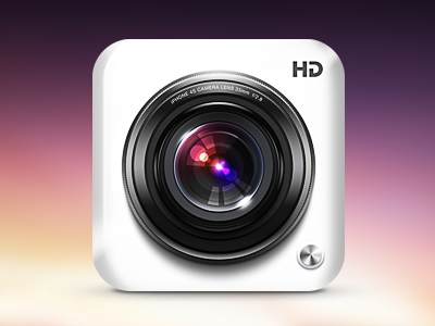 Yet another camera icon app icon cam camera lens glass ios retina