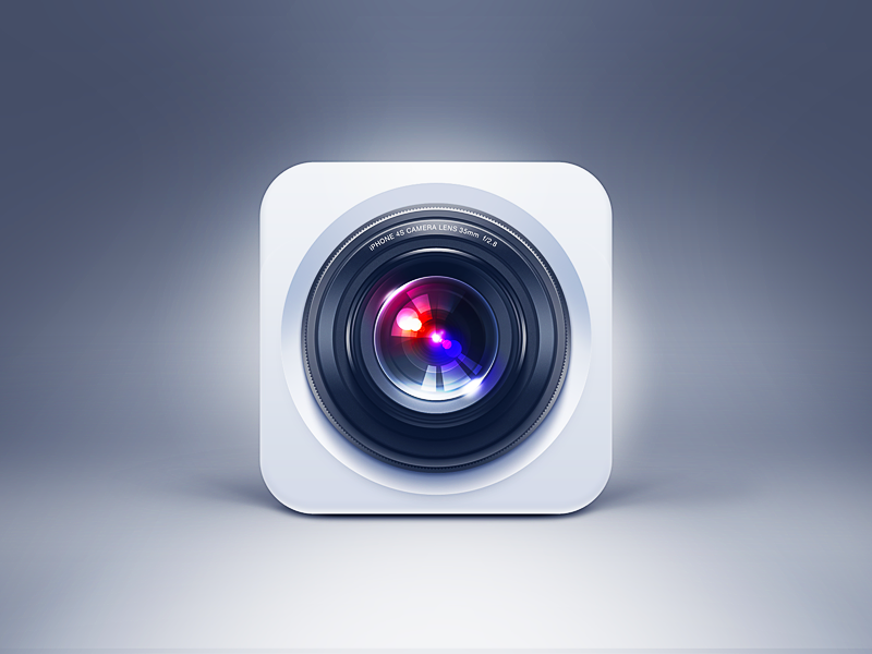 Yet yet another more round on this.  camera app icon iphone ios lens blue white olympus homescreen