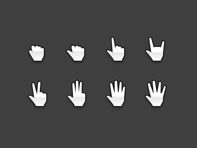 Hands Cursors freebie psd hands hand cursor grab grabbing drag dragging pointer pointing web mockup interaction free