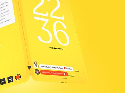 Concept Design — OS mobile ui interface typography os 3d concept design mockup device
