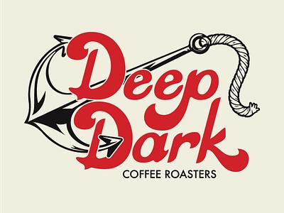 Deep Dark Coffee Co Main clean graphic design illustrator flat typography vector branding logo illustration design