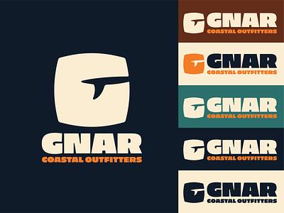 GNAR Coastal Outfitters - Logo Design freelance west coast camping outdoor logomark brand identity surf logo design vector illustrator logo graphic design flat design branding