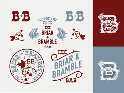 Briar & Bramble Badge Set brand design brand visuals brandidentity badges badgedesign illustration logo vector illustrator graphic design flat design branding