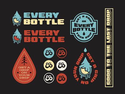 EVERY BOTTLE BADGE KIT monogram badge graphic tees vector design graphic design illustrator teeshirt design stickers badgeflash badge kits badge design merch design branding apparel