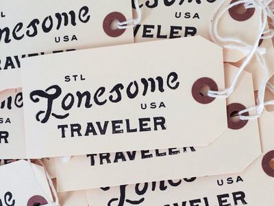 Lonesome Traveler // hand-stamped hang tags