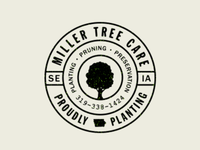 MILLER Tree Care // rubber stamp