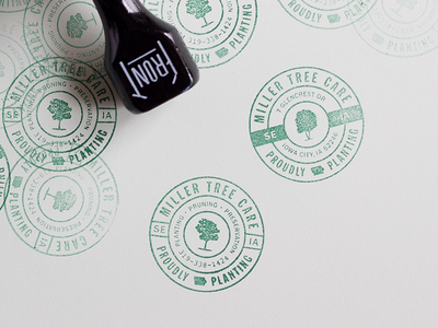 MILLER Tree Care stamps miller tree care design identity typography brand homegrown icon stamp rubber stamp print logo