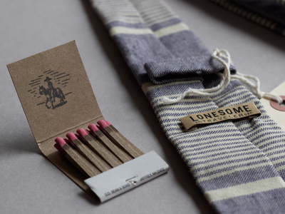 Lonesome Traveler -- hand-stamped matchbooks