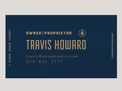 Retreat Gastropub // business card neenah retreat gastropub print design business card