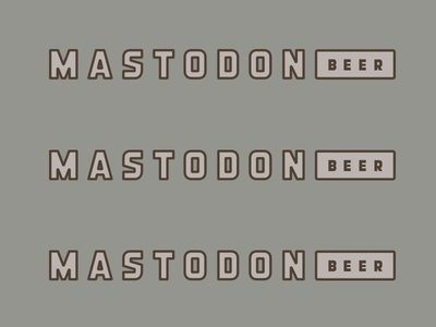 Mastodon II animal beer brewing typography type mastodon