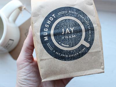 Mugshot // final version in use paper bag custom blend roast badge rubber stamp stamp icon coffee coffee bag