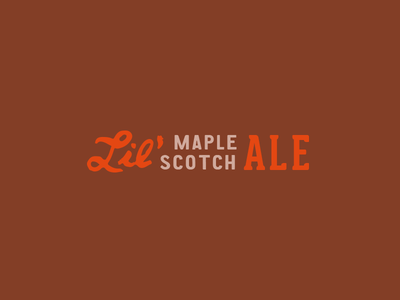 Lil' Ms handdrawn script maple scotch brewery missouri festus main and mill main mill brew co mainandmillbrew