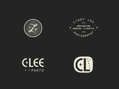 Cindy Lee Photography / brand icon collection // 02 handdrawn identity branding photographer complex offbeat artistic letterform mystical sunburst brand icon icons