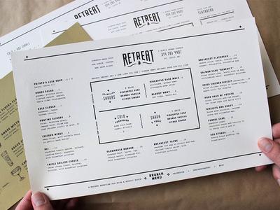Retreat Menus / Brunch french paper co print retreat gastropub outdoorsy vintage delicate type bouquet brunch menu menu design